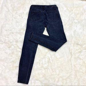 Versace v 1969 Italia Black Faded Skinny Jeans
